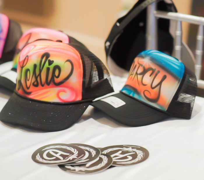 Personalized Graffiti Art Hat Favors from a Neon Graffiti Birthday Party on Kara's Party Ideas   KarasPartyIdeas.com (7)