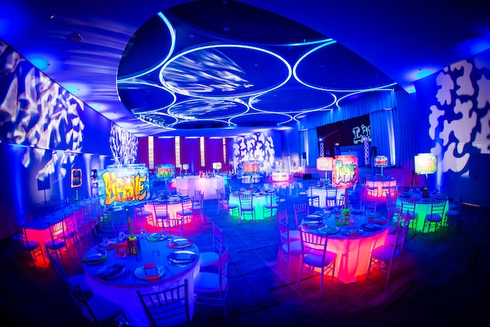 Neon Graffiti Birthday Party on Kara's Party Ideas   KarasPartyIdeas.com (30)