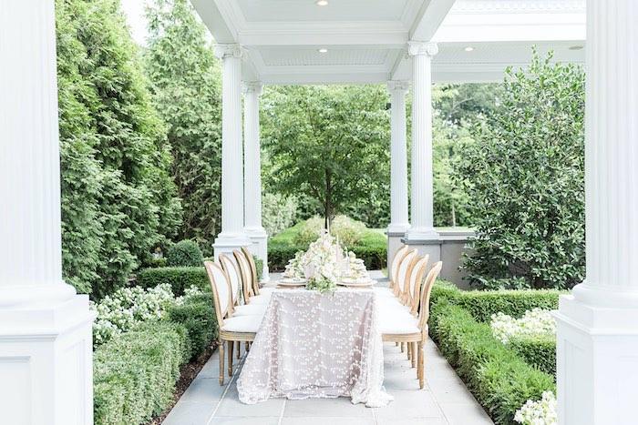 Elegant Garden Guest Table from a Park Chateau Garden Wedding on Kara's Party Ideas | KarasPartyIdeas.com (36)