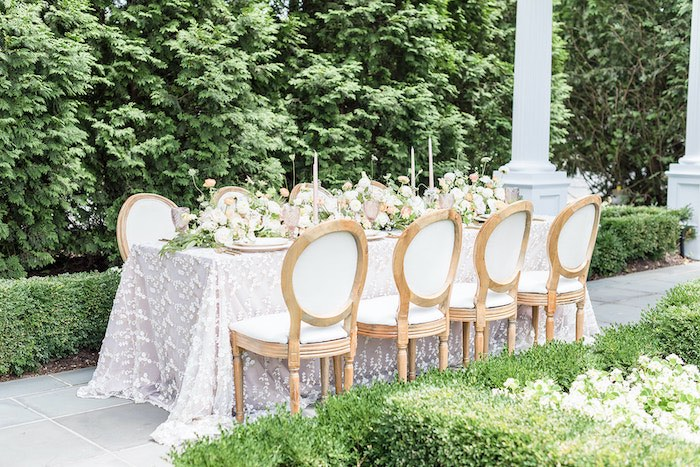 Elegant Garden Guest Table from a Park Chateau Garden Wedding on Kara's Party Ideas | KarasPartyIdeas.com (35)