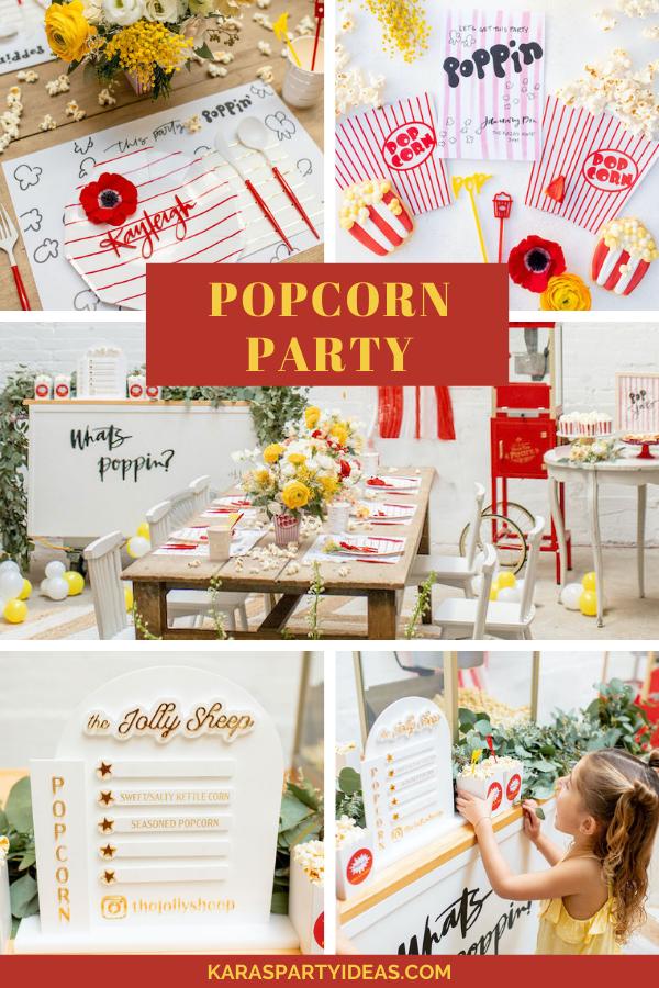 Popcorn Party via Kara's Party Ideas - KarasPartyIdeas.com