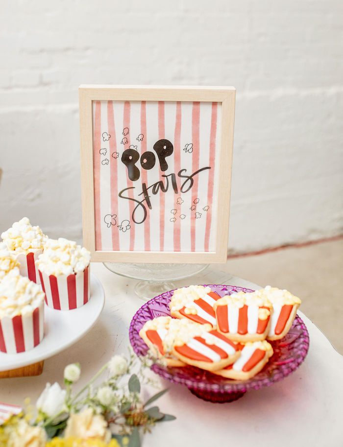 Popcorn Themed Sweet Table from a Popcorn Party on Kara's Party Ideas | KarasPartyIdeas.com (26)