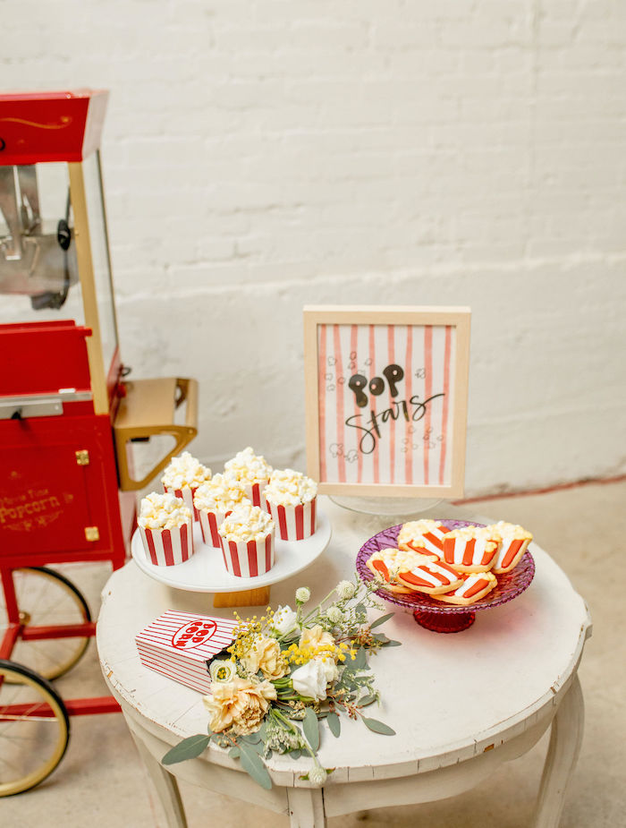 Popcorn Themed Sweet Table from a Popcorn Party on Kara's Party Ideas | KarasPartyIdeas.com (32)