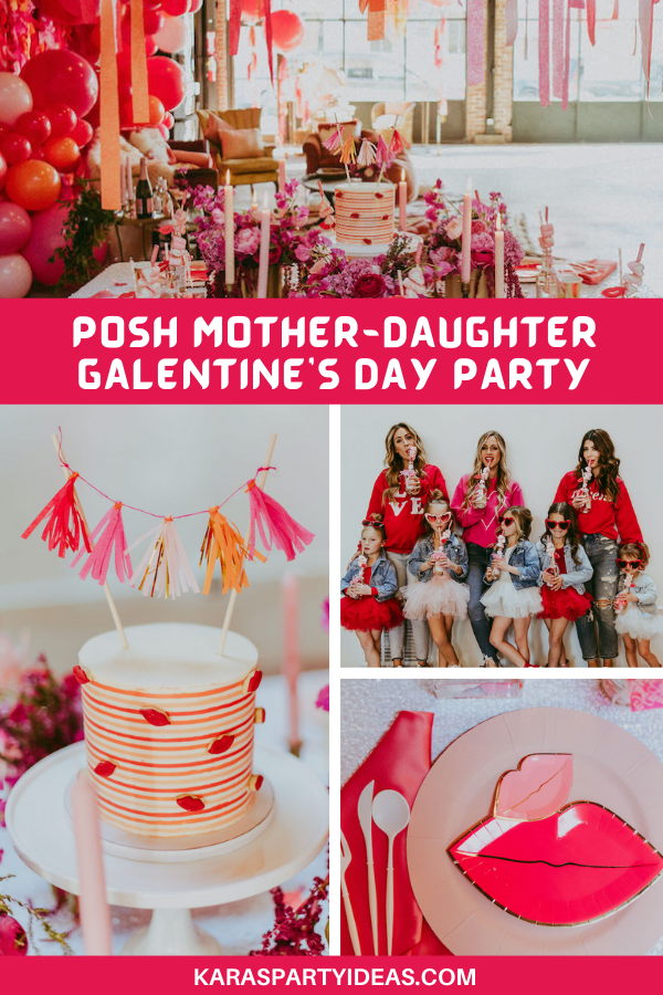 Posh Mother-Daughter GALentine's Day Party via Kara's Party Ideas - KarasPartyIdeas.com