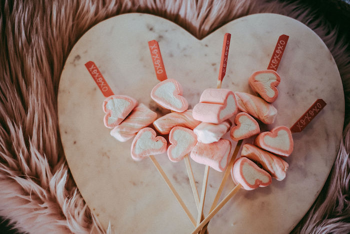 Heart Marshmallow Skewers from a Posh Mother-Daughter GALentine's Day Party on Kara's Party Ideas | KarasPartyIdeas.com (26)