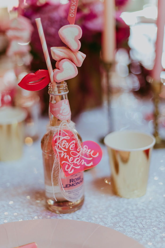 Valentine's Day-inspired Beverage - Rose Lemonade from a Posh Mother-Daughter GALentine's Day Party on Kara's Party Ideas | KarasPartyIdeas.com (23)