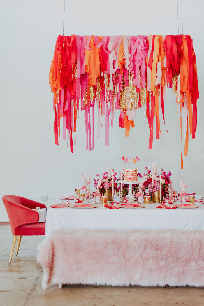 Posh Valentine's Day Party Table from a Posh Mother-Daughter GALentine's Day Party on Kara's Party Ideas | KarasPartyIdeas.com (17)