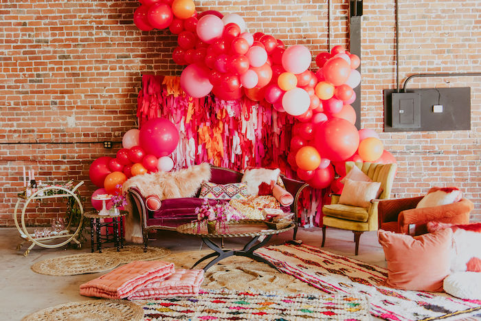 Posh Valentine's Day Lounge from a Posh Mother-Daughter GALentine's Day Party on Kara's Party Ideas | KarasPartyIdeas.com (13)