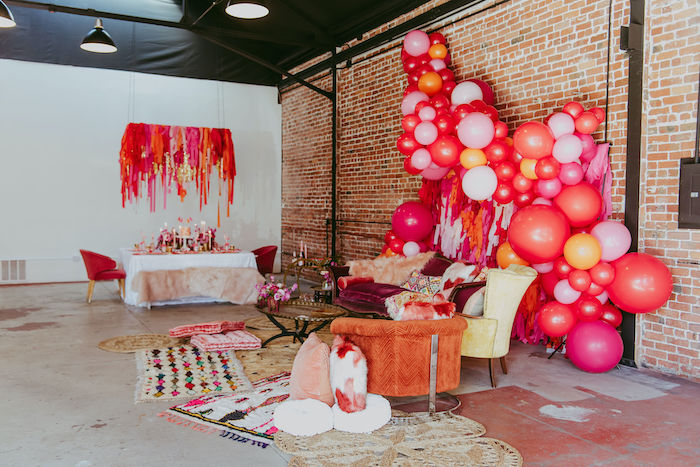 Posh Valentine's Day-inspired Lounge from a Posh Mother-Daughter GALentine's Day Party on Kara's Party Ideas | KarasPartyIdeas.com (9)