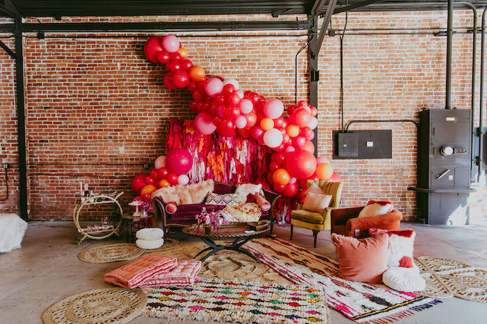Posh Valentine's Day-inspired Lounge from a Posh Mother-Daughter GALentine's Day Party on Kara's Party Ideas | KarasPartyIdeas.com (8)