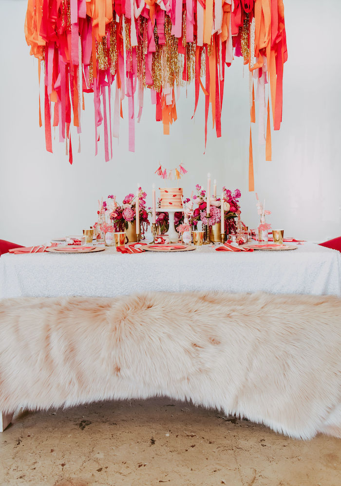 Posh Valentine's Day Party Table from a Posh Mother-Daughter GALentine's Day Party on Kara's Party Ideas | KarasPartyIdeas.com (6)