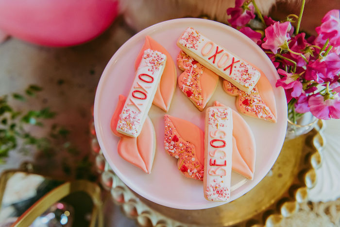 Valentine's Day Cookies from a Posh Mother-Daughter GALentine's Day Party on Kara's Party Ideas | KarasPartyIdeas.com