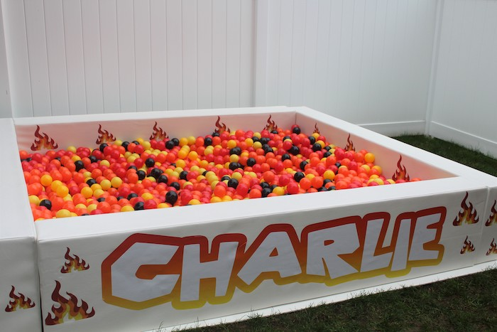 Ball Pit from a Roblox Museum Heist Birthday Party on Kara's Party Ideas | KarasPartyIdeas.com (5)