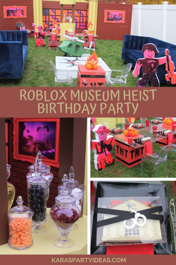 Roblox Museum Heist Birthday Party via Kara's Party Ideas - KarasPartyIdeas.com
