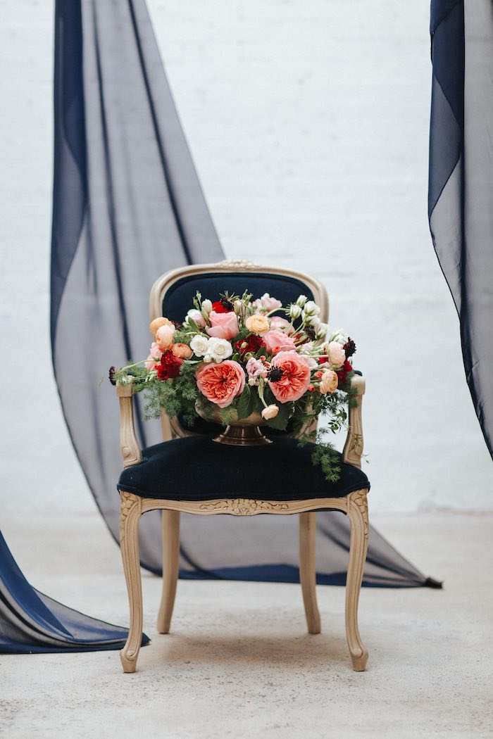 Chair of Blooms from a Romantic Outdoor Valentine's Day Dinner on Kara's Party Ideas | KarasPartyIdeas.com (5)