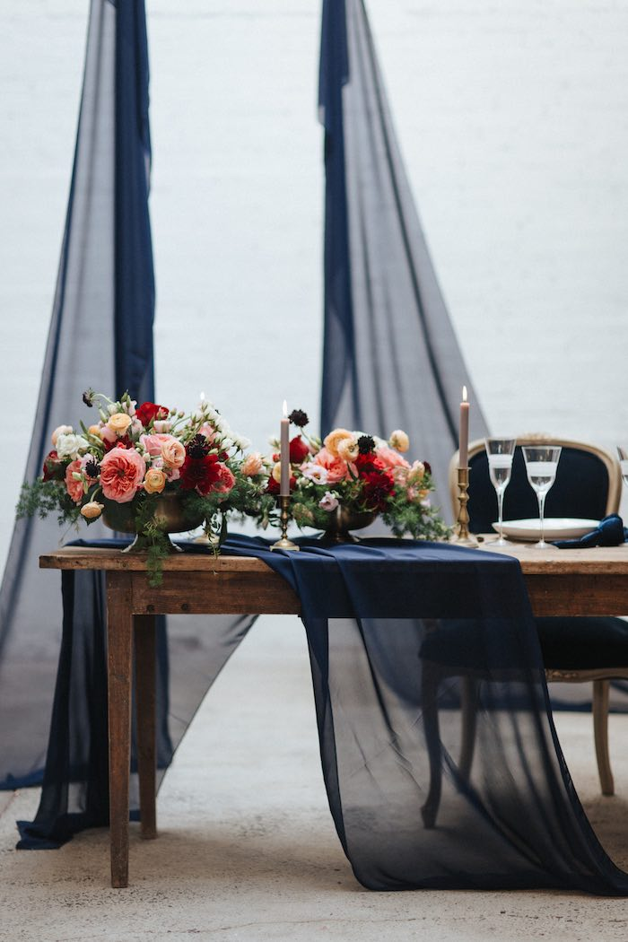 Romantic Guest Table from a Romantic Outdoor Valentine's Day Dinner on Kara's Party Ideas | KarasPartyIdeas.com (4)