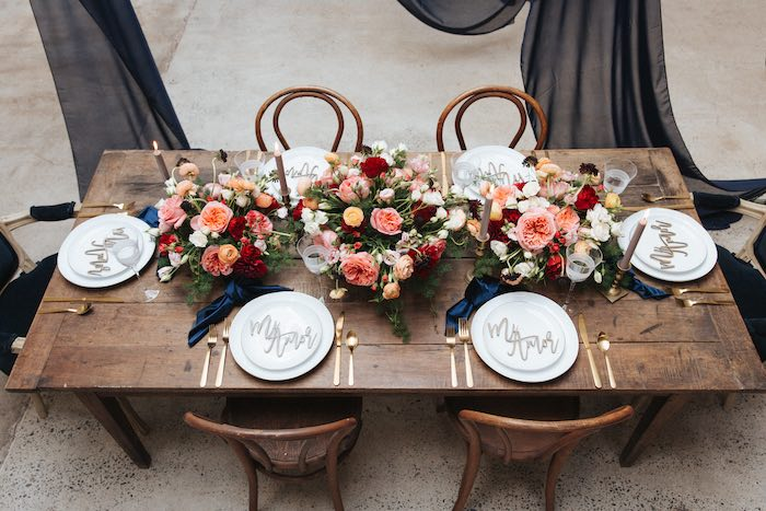 Romantic Guest Table from a Romantic Outdoor Valentine's Day Dinner on Kara's Party Ideas | KarasPartyIdeas.com (21)