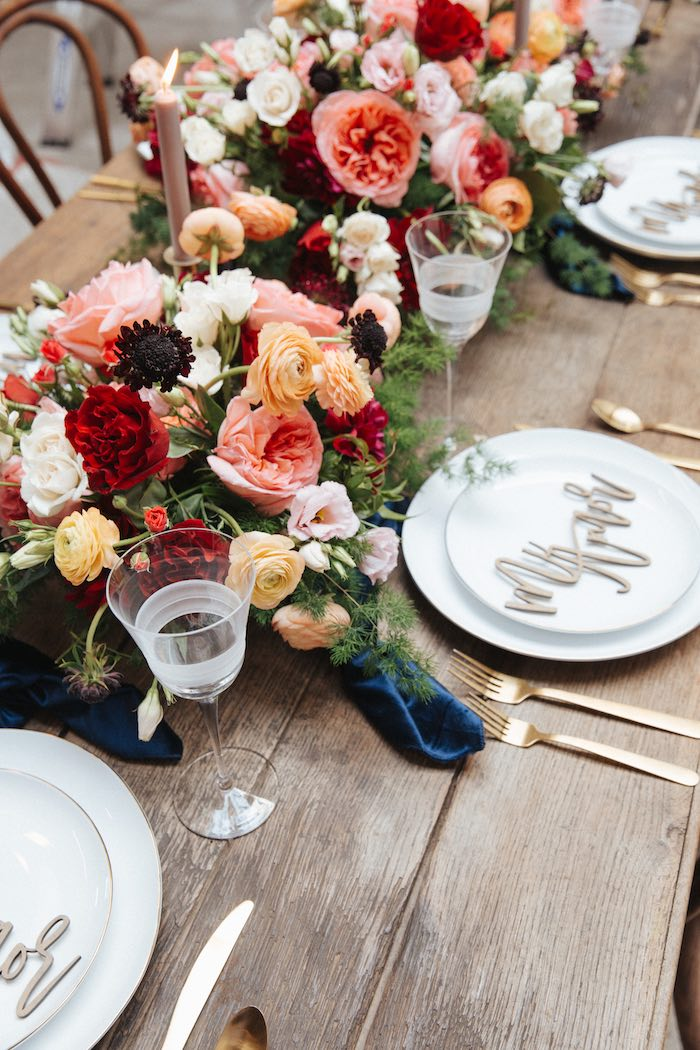 Guest Table Setting from a Romantic Outdoor Valentine's Day Dinner on Kara's Party Ideas | KarasPartyIdeas.com (17)