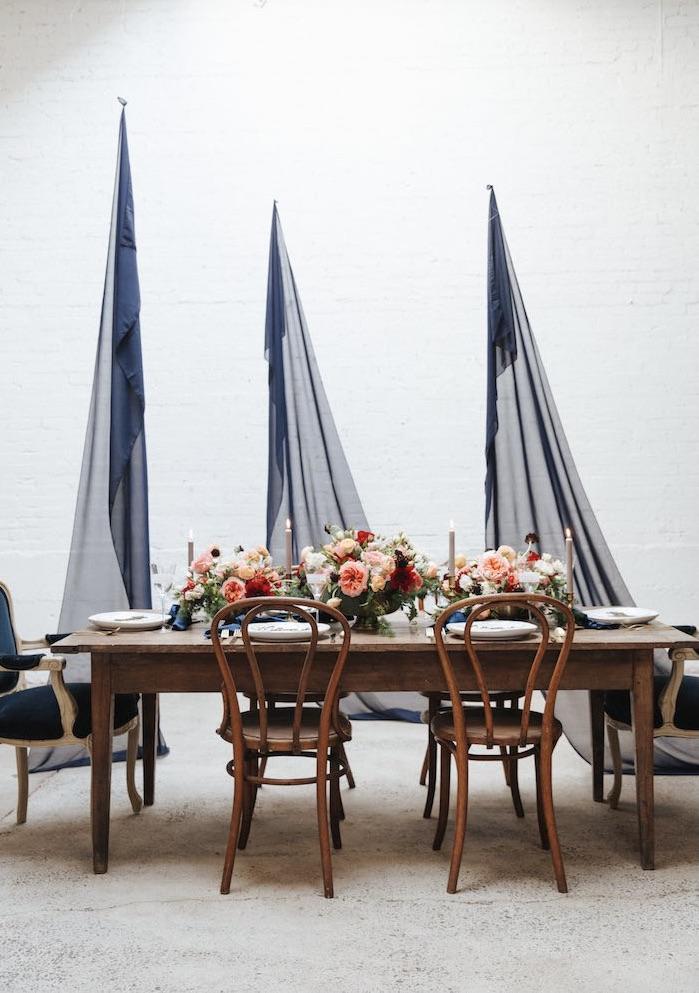 Romantic Outdoor Valentine's Day Dinner on Kara's Party Ideas | KarasPartyIdeas.com