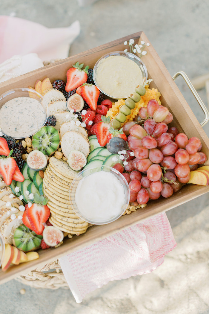 Charcuterie Board from a Seaside Birthday Brunch on Kara's Party Ideas | KarasPartyIdeas.com (27)