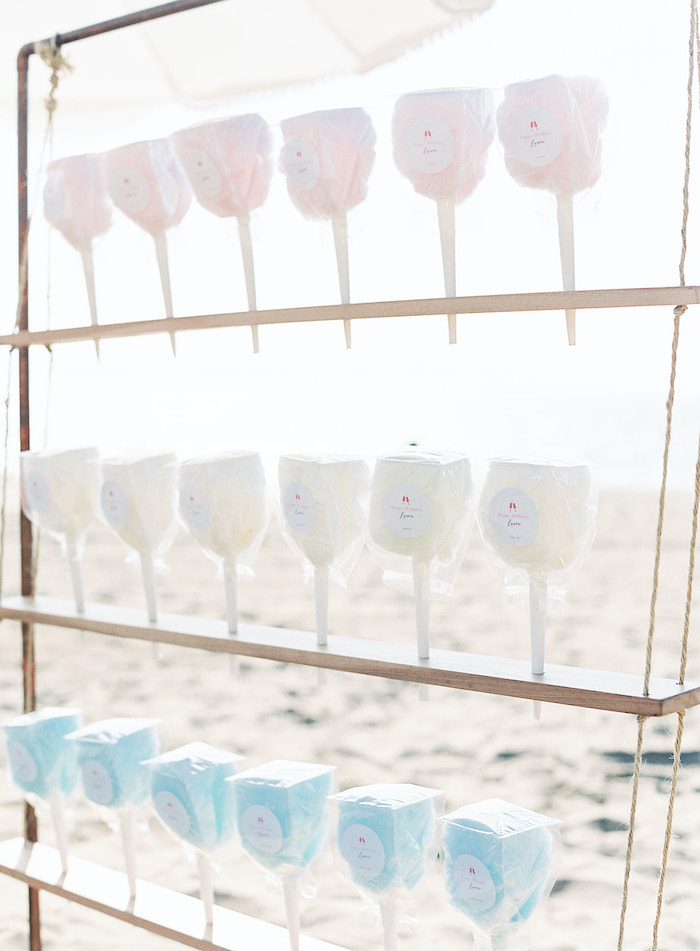 Cotton Candy from a Seaside Birthday Brunch on Kara's Party Ideas | KarasPartyIdeas.com (22)