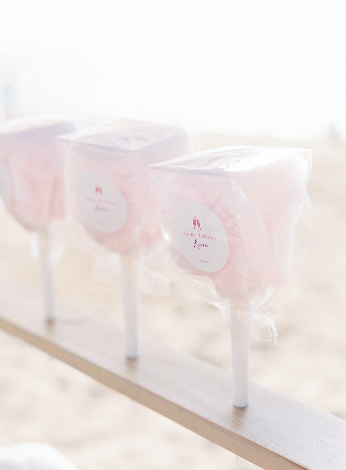 Cotton Candy from a Seaside Birthday Brunch on Kara's Party Ideas | KarasPartyIdeas.com (21)