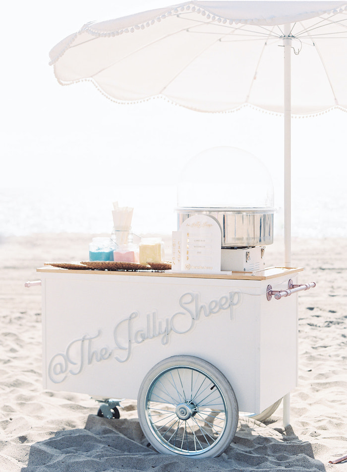 Cotton Candy Cart from a Seaside Birthday Brunch on Kara's Party Ideas | KarasPartyIdeas.com (20)