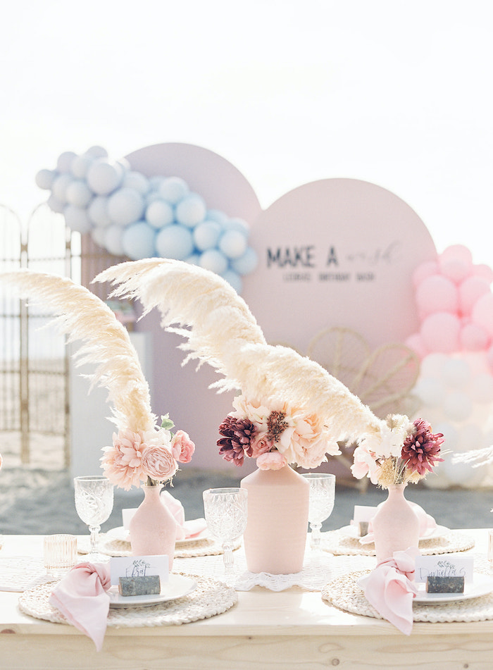 Seaside Guest Table from a Seaside Birthday Brunch on Kara's Party Ideas | KarasPartyIdeas.com (17)