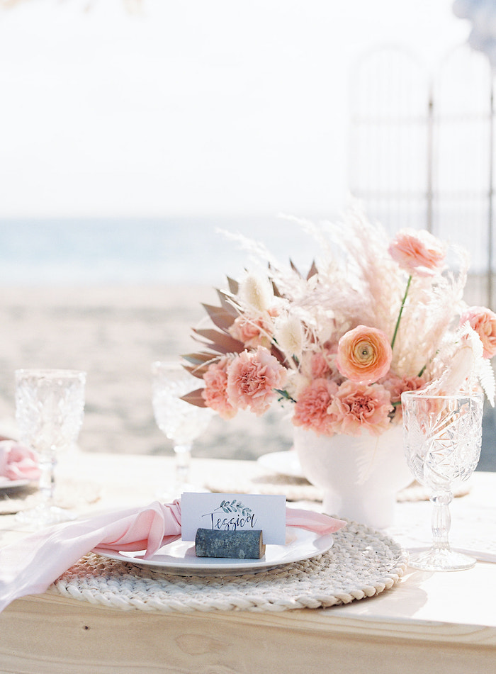 Seaside Table Setting from a Seaside Birthday Brunch on Kara's Party Ideas | KarasPartyIdeas.com (16)