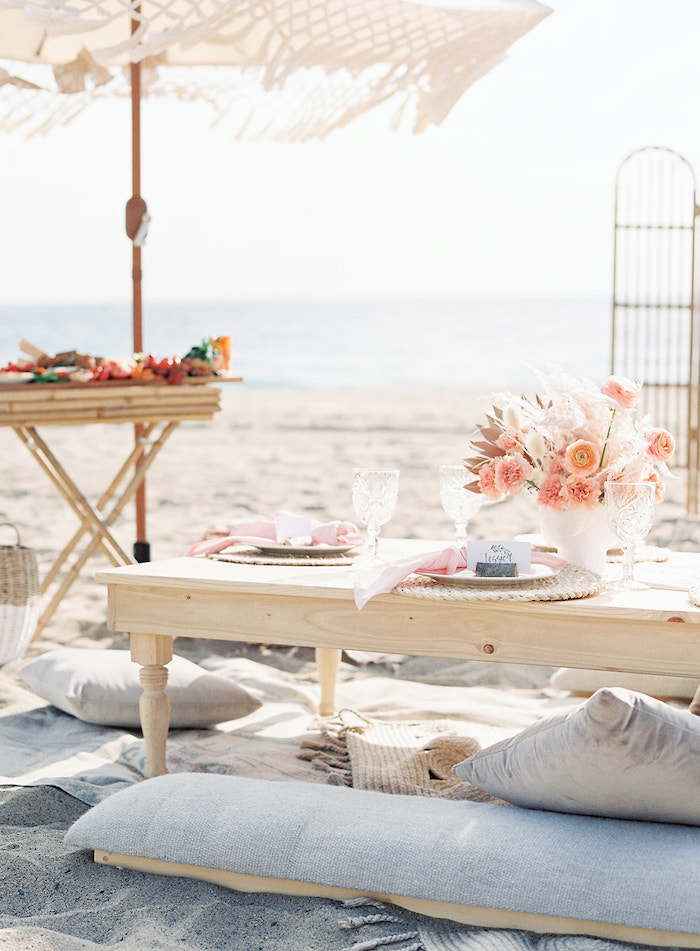 Seaside Guest Table from a Seaside Birthday Brunch on Kara's Party Ideas   KarasPartyIdeas.com (15)