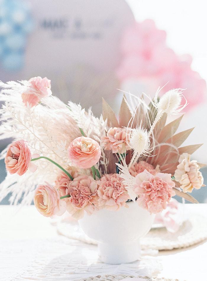 Seaside-inspired Floral Arrangement from a Seaside Birthday Brunch on Kara's Party Ideas | KarasPartyIdeas.com (13)