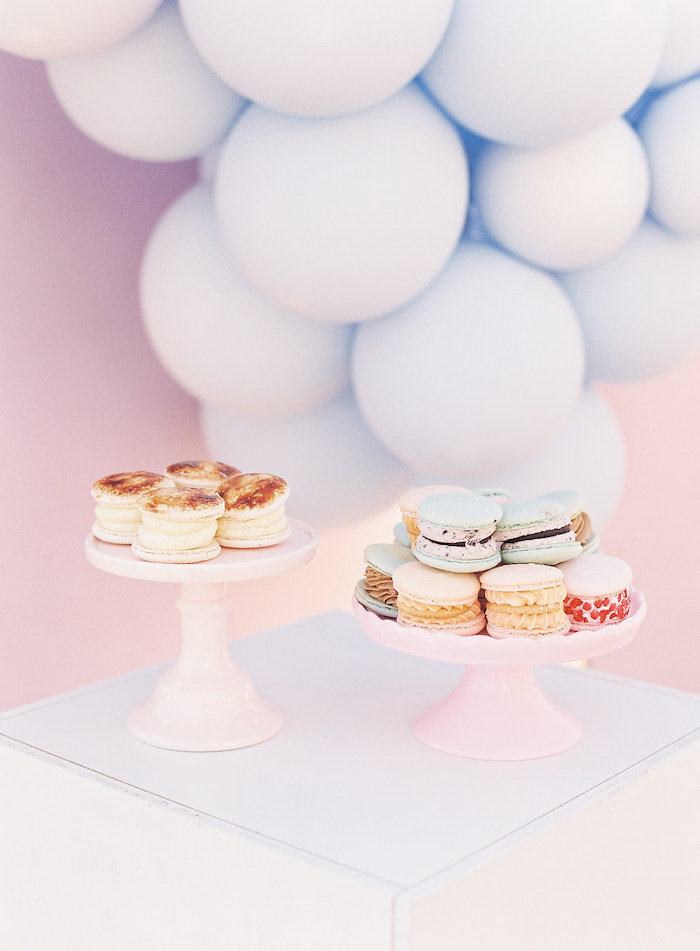 Macarons/Cookies from a Seaside Birthday Brunch on Kara's Party Ideas | KarasPartyIdeas.com (10)
