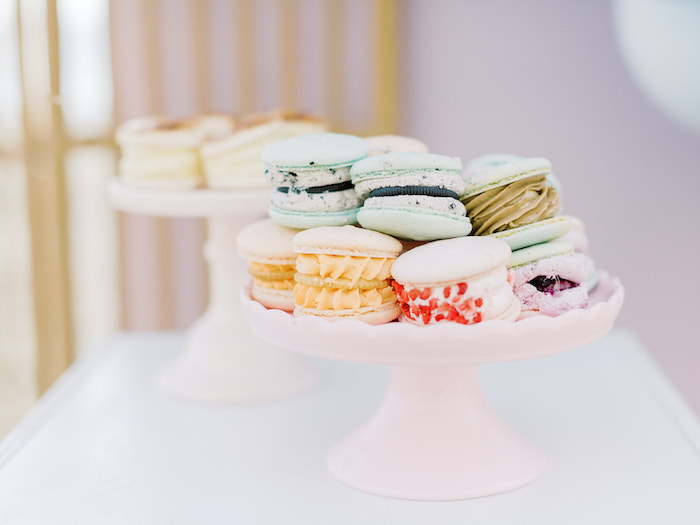 Macarons from a Seaside Birthday Brunch on Kara's Party Ideas | KarasPartyIdeas.com (8)