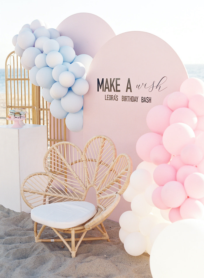 Modern Panel Balloon Backdrop from a Seaside Birthday Brunch on Kara's Party Ideas | KarasPartyIdeas.com (6)