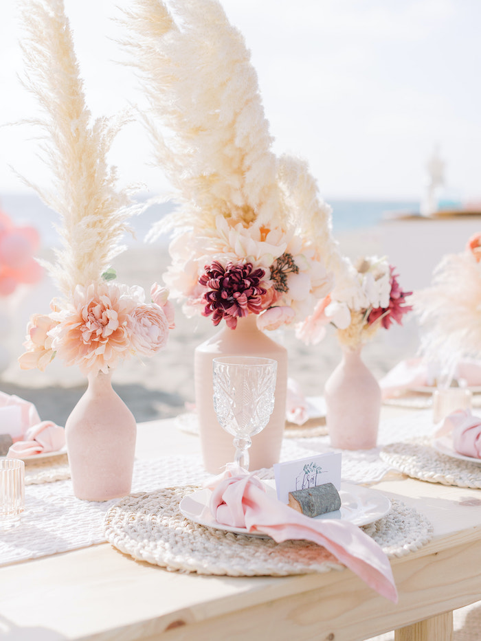 Seaside Table Setting from a Seaside Birthday Brunch on Kara's Party Ideas | KarasPartyIdeas.com (37)