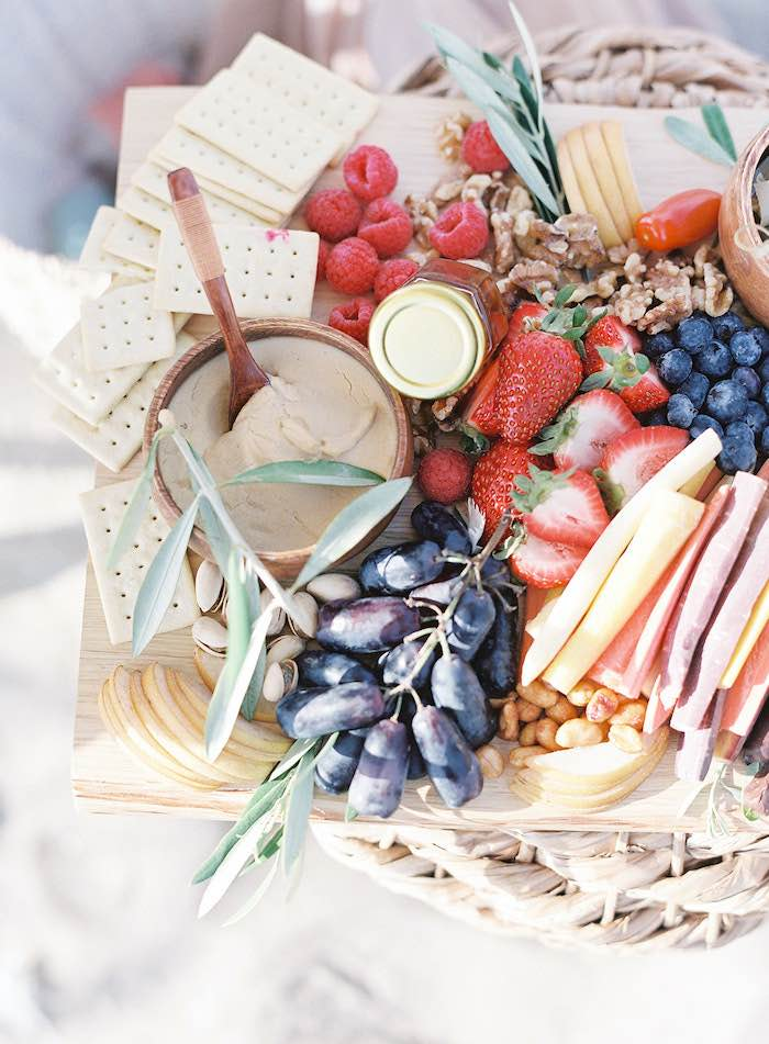 Charcuterie Board from a Seaside Birthday Brunch on Kara's Party Ideas | KarasPartyIdeas.com (32)