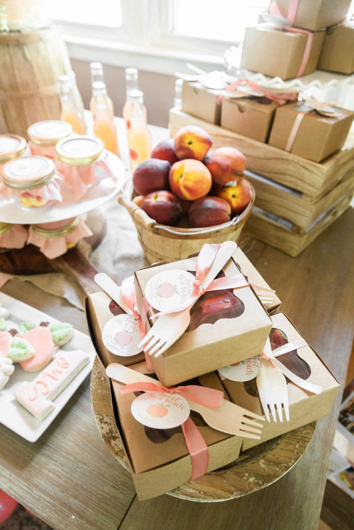 Window Lunchboxes from a Sweet Peach 1st Birthday on Kara's Party Ideas | KarasPartyIdeas.com (21)