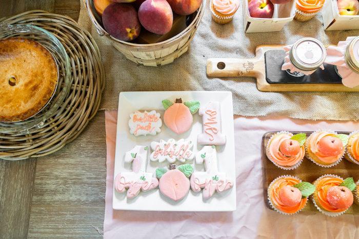 Peach-inspired Cookies from a Sweet Peach 1st Birthday on Kara's Party Ideas | KarasPartyIdeas.com (20)