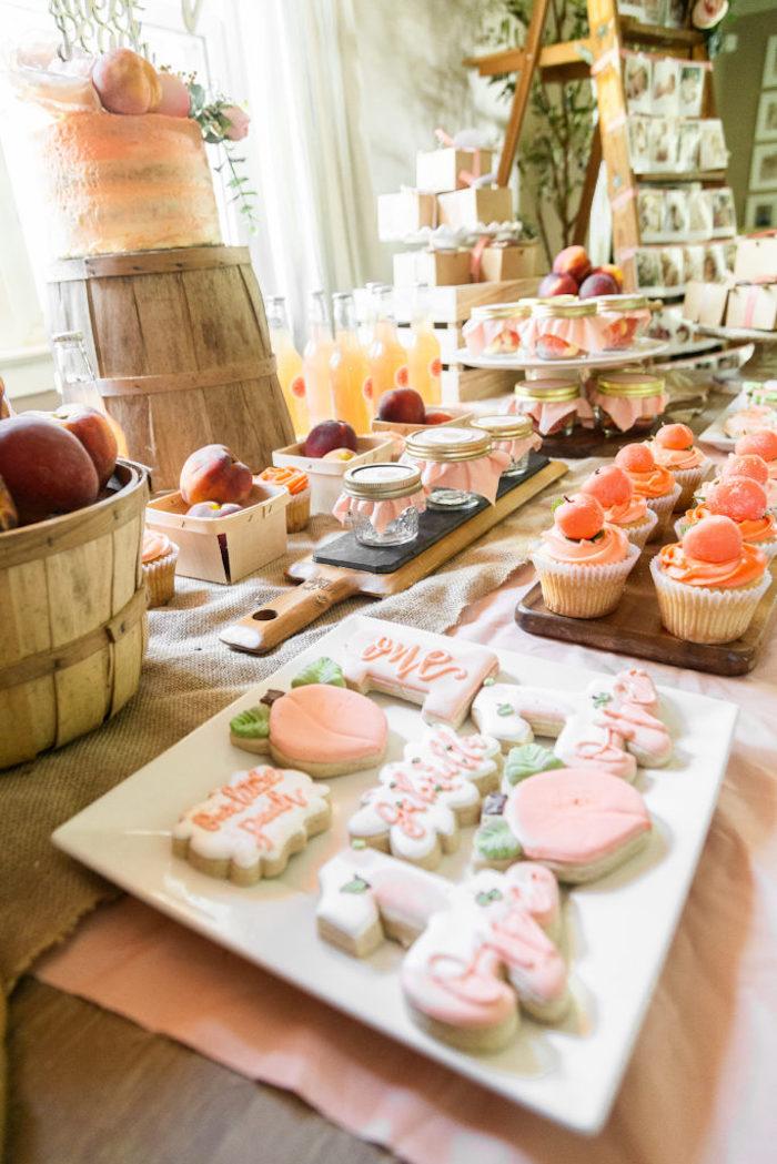 Peach Themed Sweet Table from a Sweet Peach 1st Birthday on Kara's Party Ideas | KarasPartyIdeas.com (19)