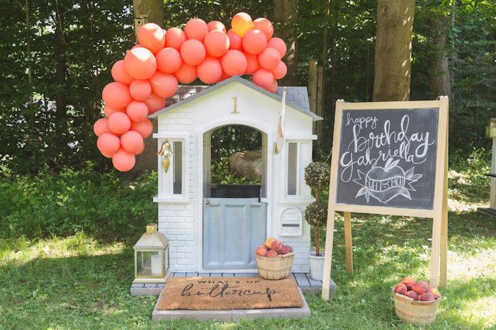 Sweet Peach 1st Birthday on Kara's Party Ideas | KarasPartyIdeas.com (12)
