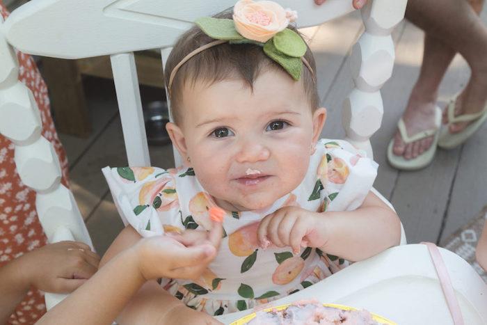 Sweet Peach 1st Birthday on Kara's Party Ideas | KarasPartyIdeas.com (6)