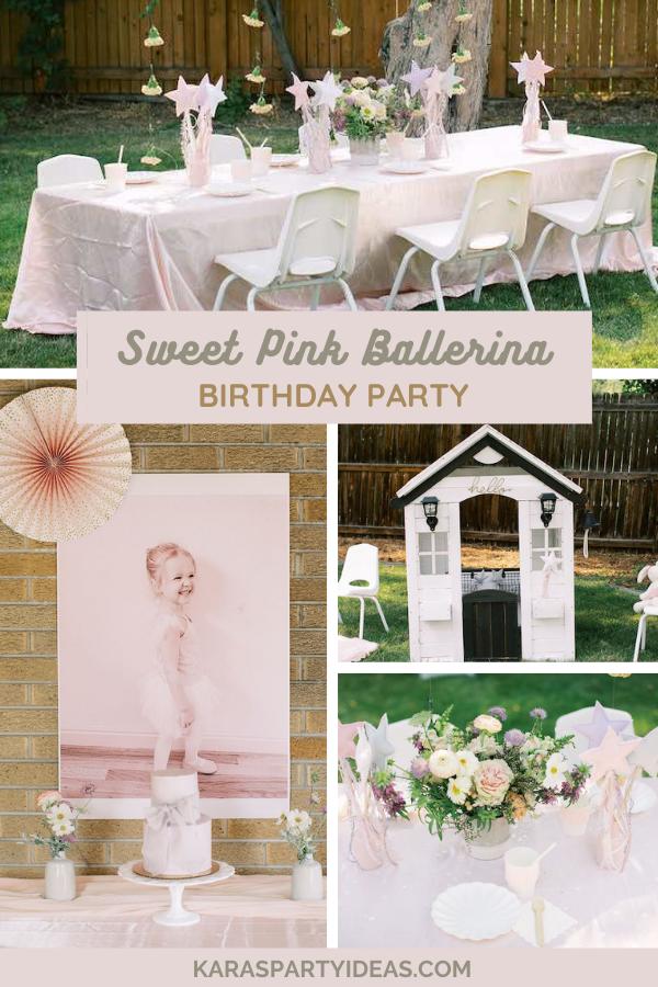 Sweet Pink Ballerina Birthday Party via Kara's Party Ideas - KarasPartyIdeas.com