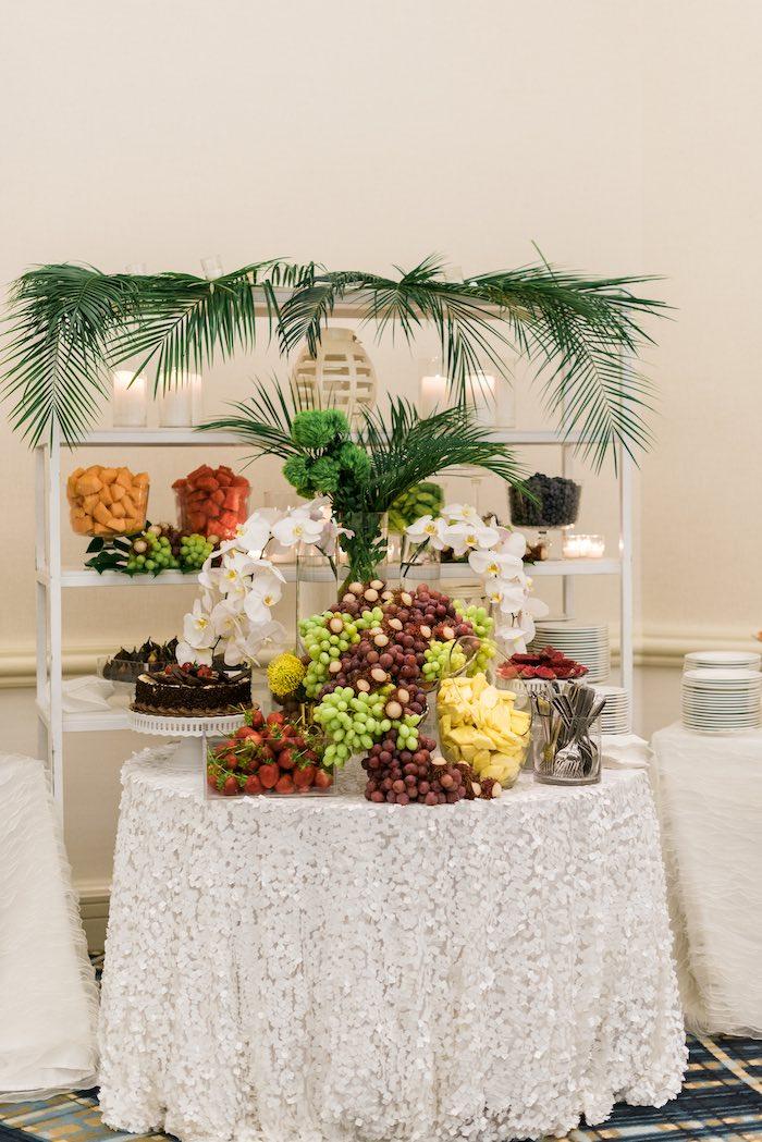 Food Table from a Tropical Seaside Bar Mitzvah on Kara's Party Ideas   KarasPartyIdeas.com (18)