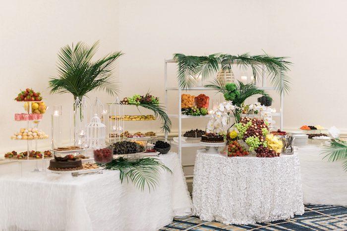 Food Tables from a Tropical Seaside Bar Mitzvah on Kara's Party Ideas   KarasPartyIdeas.com (17)