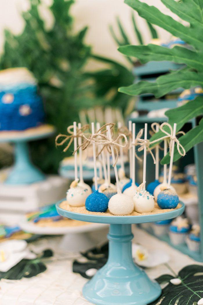 Cake Pops from a Tropical Seaside Bar Mitzvah on Kara's Party Ideas   KarasPartyIdeas.com (11)
