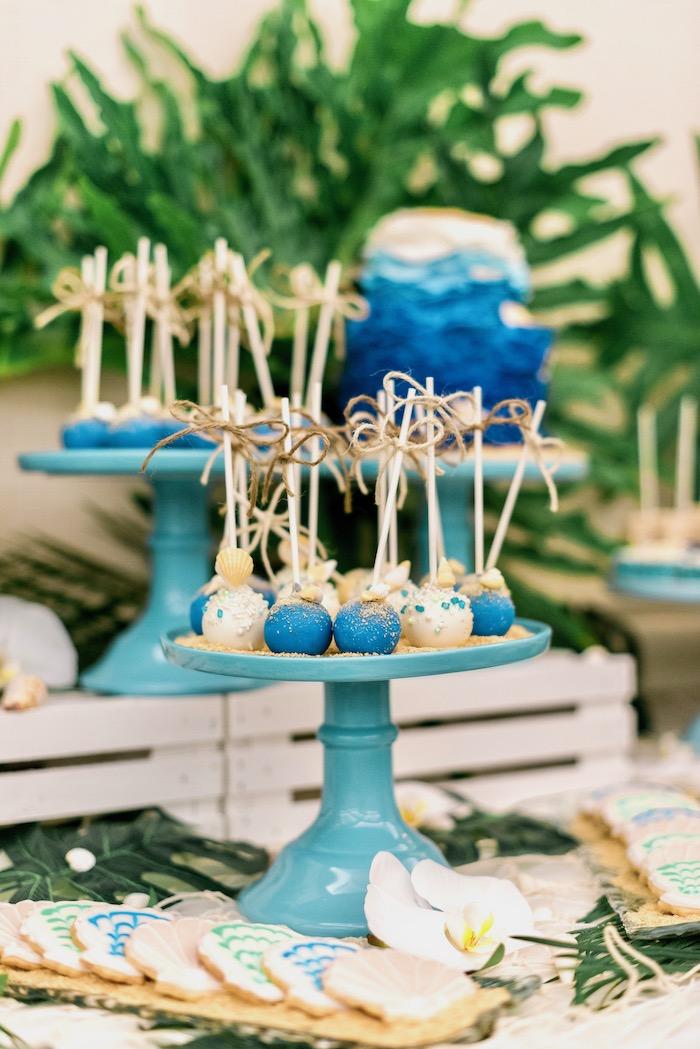 Cake Pops from a Tropical Seaside Bar Mitzvah on Kara's Party Ideas   KarasPartyIdeas.com (4)