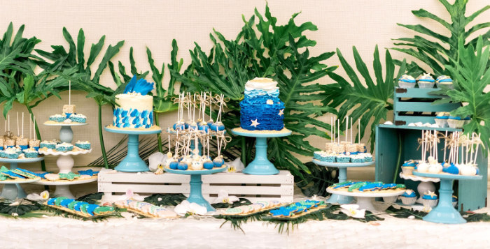Tropical Seaside Bar Mitzvah on Kara's Party Ideas | KarasPartyIdeas.com (2)
