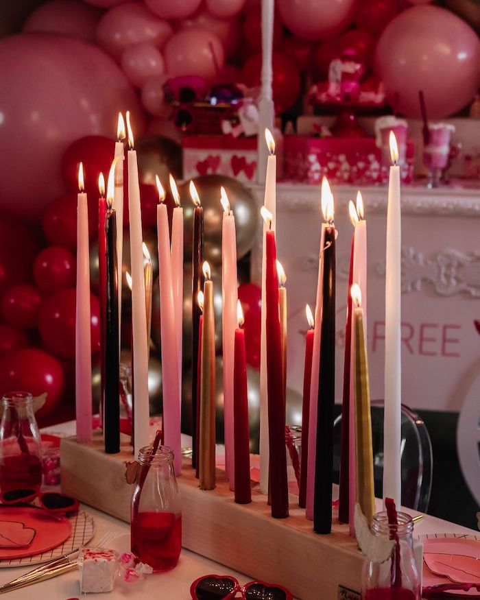 Flute Candle Centerpiece from a Valentine Cupid Party for Kids on Kara's Party Ideas | KarasPartyIdeas.com (16)