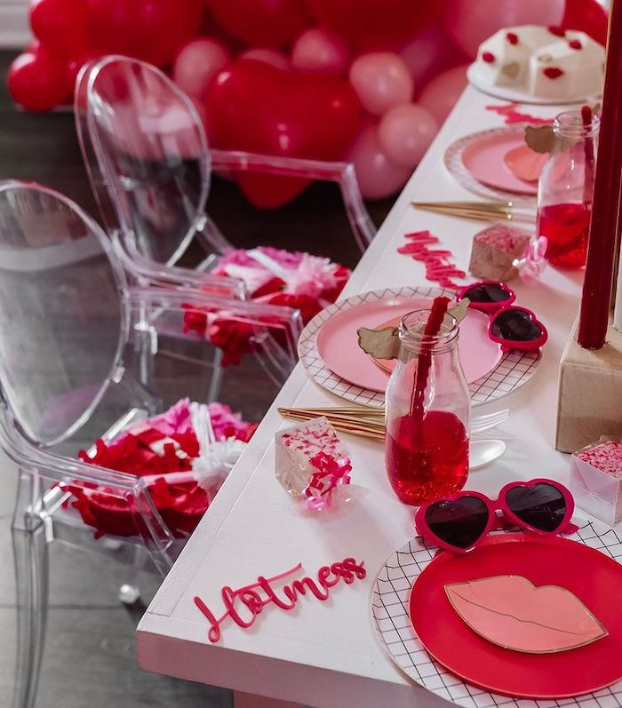 Valentine's Day Kid Table Setting from a Valentine Cupid Party for Kids on Kara's Party Ideas | KarasPartyIdeas.com (15)