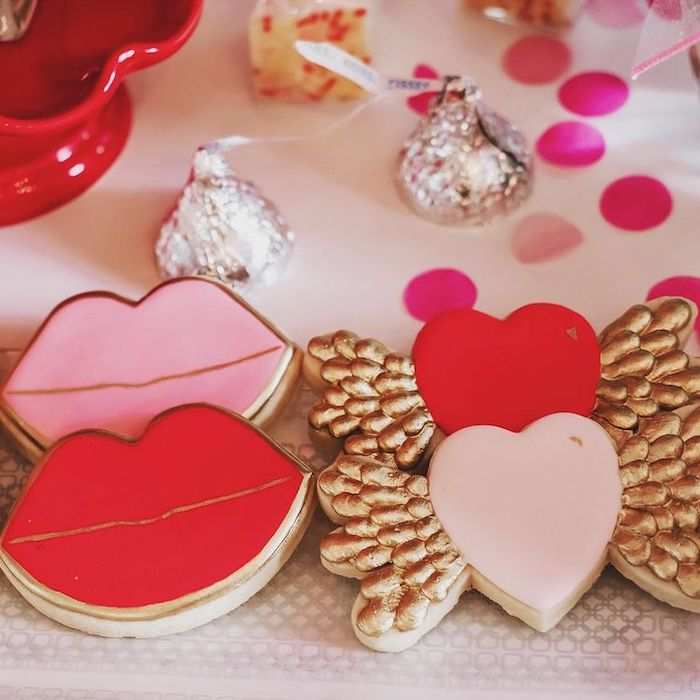 Cupid's Valentine's Day Cookies from a Valentine Cupid Party for Kids on Kara's Party Ideas | KarasPartyIdeas.com (12)